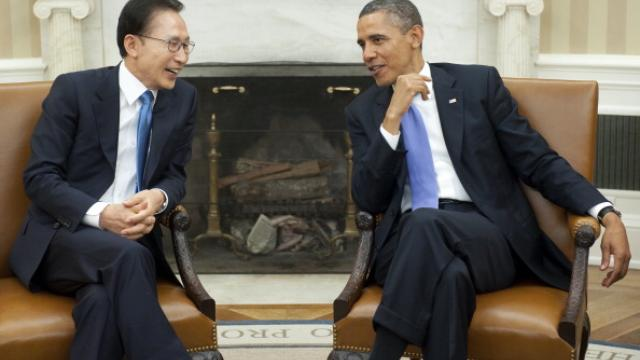 Obama and South Korean President